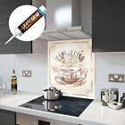 Glass Splashbacks Cappuccino Coffee Retro Glass and Accessories - Premier Range