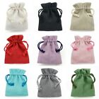 Cotton Linen Drawstring Gift Bags Jewellery Pouches High Quality Wholesale