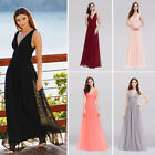 Cocktail Sleeveless V-Neck Formal Long Evening Dresses Maxi Prom Party Dresses