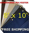 8' x 10' Workhorse Polyester Waterproof Breathable Canvas Tarp