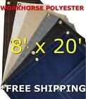 8' x 20' Workhorse Polyester Waterproof Breathable Canvas Tarp