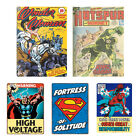 Vintage Comics Tin Metal Sign. Marvel DC Retro Bedroom Man Cave Decor Gift Fan