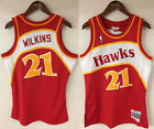 Dominique Wilkins Atlanta Hawks Mitchell  Ness NBA 1986 1987 Authentic Jersey