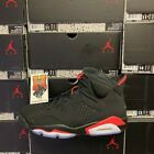 2019 Nike AIR JORDAN 6 VI RETRO OG Black INFRARED 384664 060 GS &amp; Men Sz:4Y-16 <br/> IN STOCK NOW &amp; READY TO SHIP!! FASTEST FREE SHIPPING!!!
