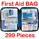 299 Pcs First Aid Energency Kit Camping Sport Travel Car Home Medical Bag #OW photo