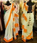 Women's Clothing Designer Saree Ruffle Indian Pakistani Bollywood Sari Blouse