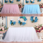 Table Skirt Cover Birthday Wedding Festival Party Decor Table Cloth Polyester