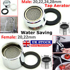 TAP AERATOR WATER SAVING FAUCET FEMALE MALE NOZZLE SPOUT END DIFFUSER FILTER UK
