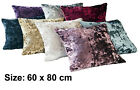 SMALL Crushed Velvet Pet Dog Bed Cover Soft Washable Pillow Fleece Cushion Warm