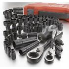 Craftsman 85 pc Piece Universal Max Axess Ratchet Socket Tool Set SAE Metric NEW