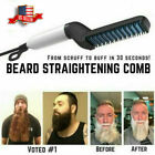 Mens Quick Beard Straightener Multi-purpose Hair Comb Curling Curler Show Cap US