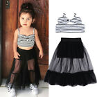 Toddler Baby Girl Stripe Crop Top Shorts Skirt Dress Outfits Clothes Summer USA