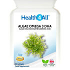 Health4All  Algae Oil Omega 3 DHA 500mg Softgels | STRONG DOSE VEGAN OMEGA-3 DHA £7.99 GBP on eBay