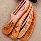 Handcrafted  Fine Tooth Beard Comb Peach Wooden  Hair Comb Hair Styling Tool