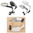 Pair Rearview Size Mirrors W/ LED Turn Signals For Harley V-Rod VRSCF 2009-2017 $55.53 USD on eBay