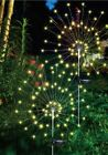 90 LED Starburst Solar Powered Stake Lights Warm White Garden Outdoor Patio