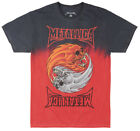 METALLICA PUSHEAD SKULL T-SHIRT TIE DYE METAL ROCK MUSIC TEE MENS NWT BLACK RED image
