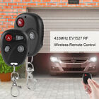 433MHz Relay Wireless Remote Control Learning Code Switch Transmitter Black 12V