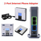 PAP2T VoIP Gateway Router Sip V2 Internet Phone Adapter with RJ45 2-Phone Port