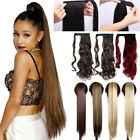 100 real thick clip on ponytail hair peies hair extensions 26 long straight k2