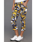 Loudmouth golf women capri pants BLUE AND GOLD SPLASH  2666 size 0