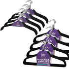 40ct Joy Mangano Huggable Clothes Coat Hangers Non Slip Felt Black Space Saving