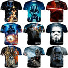 Womens/Mens Star Wars Darth Vader Funny 3D Print Casual T-Shirt Tee Short Sleeve $8.79 USD on eBay