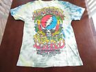 Large White Tie Dye GRATEFUL DEAD, 15TH Anniversary Classic Rock T-Shirt. image