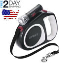 Retractable Dog Leash With Light 16Ft Small Medium Walking Collar Harness-3Color