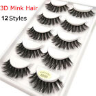 Trendy 5 Pairs 100 Real Mink 3D Volume Thick Daily False Eyelashes Strip Lashes