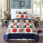 2pcs Kids Quilt Bedspread Comforter Set Throw Blanket for Boys Girls A13 quilt  image