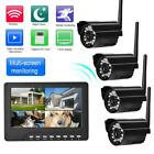 "Wireless Security WiFi Camera System 7"" Monitor Screen HD Outdoor IR Waterproof"