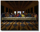 Kyпить Jesus Christ Black Last Supper Religious & Inspirational Wall Art Print Picture на еВаy.соm