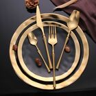 Stainless Steel Cutlery Set Elegant New Gold Dinnerware Western Food Tableware