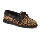 Women's SPERRY Top Sider Cheetah Leather Boat Shoes Lace Up Choose Size NIB