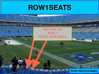 2 Front row Tampa Bay Buccaneers at Carolina Panthers tickets Sec 105 row 1 on eBay