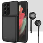 For Samsung Galaxy S8 / S9+ Plus Battery Charging Case Power Bank With Headset