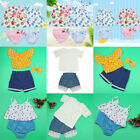 Comfortable Baby Girls Floral Bowknot/Love Shape /Dot Ruffled/Lace Round Outfits