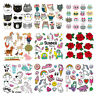 Flower Patches Iron On Clothes Stickers DIY Thermal Transfer Clothing DIY Decor