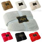 NEW LUXURY WAVE THROWS FLEECE WARM EXTRA LARGE SOFA BLANKETS DOUBLE KING SIZE