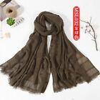 Spring New Pattern Cotton Solid Color Hollow Out Scarf Shawl Chiffon Hijab