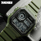SKMEI Men's Sports Watch Waterproof Alarm Date LED Digital Silicone Wristwatch  image
