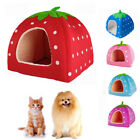 Soft Strawberry Pet Dog Cat Bed House Kennel Doggy Warm Cushion Basket 5 Colors