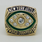 1968 NEW YORK JETS  SUPER BOWL Championship Ring 18k HEAVY GOLD PLATED *USA*