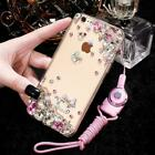 Glitter Jewelled Bling Crystal Diamonds Soft gel Phone back Case Cover & strap N
