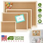 Notice Cork Board Double Sided Bulletin w/ Wood Frame Pushpin School Home Office