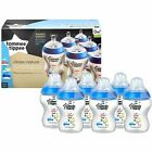 6x Tommee Tippee Closer Nature Baby Feeding Bottle 260ml Decorated
