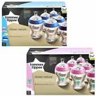 Kyпить Tommee Tippee Closer Nature Baby 6x Feeding Bottle 260ml Decorated Pink / Blue на еВаy.соm