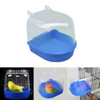 Bird Water Bath Tub For Pet Bird Cage Hanging Bowl Parrots Parakeet Birdbath YB