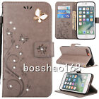 Leather Wallet Diamonds Card Slots Stand Blet Case Cover For Samsung Galaxy #2
